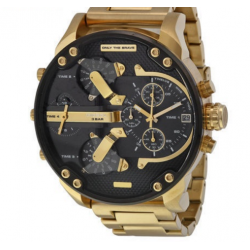 Diesel Black Gold Dial Quartz Men's Watch